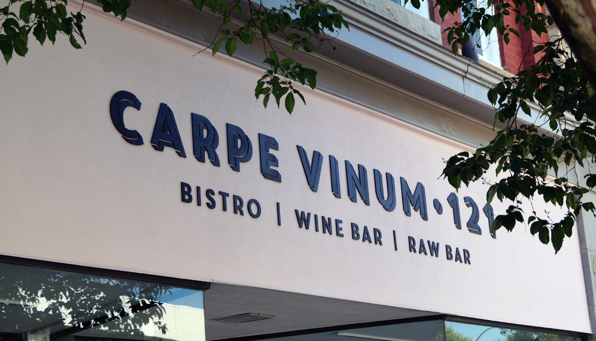 Carpe Vinum 121 sign
